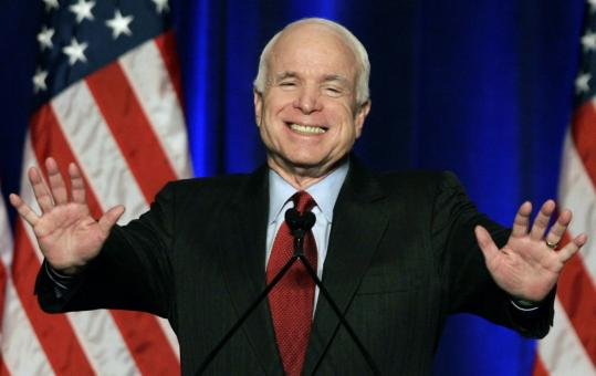 Republican John McCain made his speech yesterday to the Conservative Political Action Conference in Washington, D.C.
