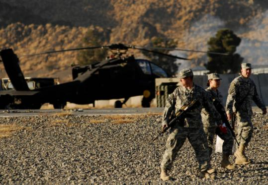 US forces have instituted a near-ban on nighttime raids in Khost. Above, US soldiers patrolled a base in the province.