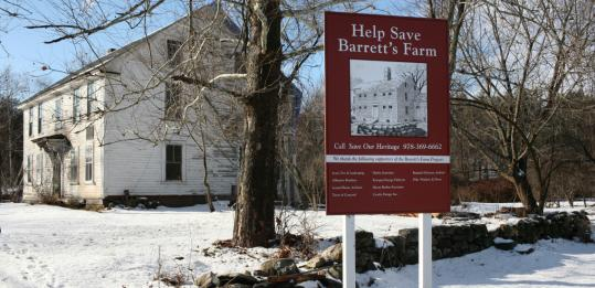 Jim Cunningham, Save Our Heritage project manager for the Barrett farmhouse now being restored, said the only two families that had owned the Concord property since Colonial days had refrained from making changes that could have eroded its historical importance.