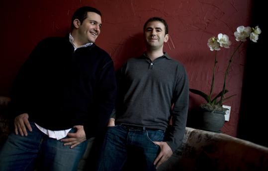 Tim Panagopoulos (left) and Rob Kassner founded hertaste.com because, Kassner says, 'Women judge men based on their clothes.'