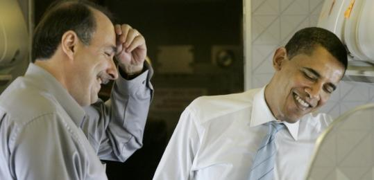 David Axelrod (left) is Barack Obama's senior campaign adviser in his bid for the Democratic nomination for president. Axelrod also advised Deval Patrick during his 2006 run for governor of Massachusetts.