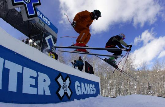 Reggie Crist (left) and Daron Rahlves compete in last month's Winter X Games, which helped elevate skiercross to becoming an Olympic event for the 2010 Games in Vancouver.