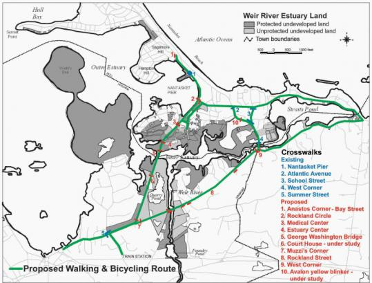 The greenway would include this Weir River Estuary path.