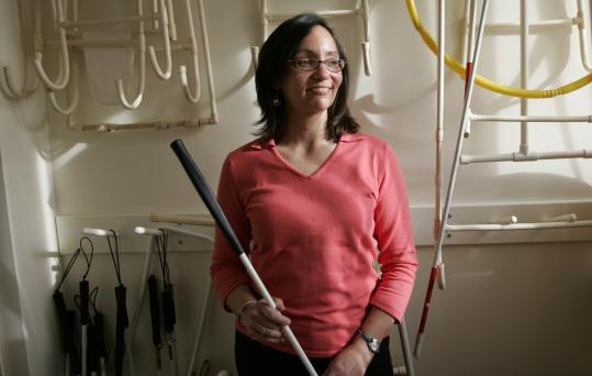 A mobility specialist, Natick resident Suzi Abu-Jaber teaches people - including infants - with visual impairments to get around life's obstacles.