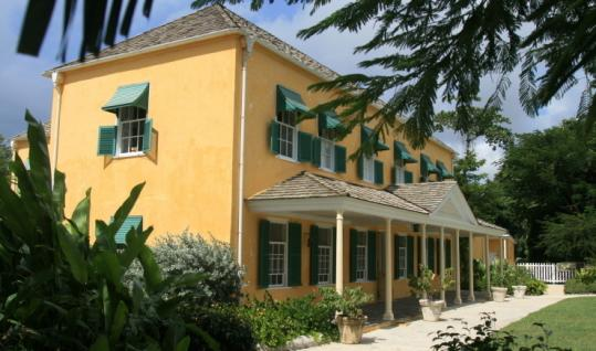 George Washington House in Bridgetown, the capital of Barbados, the only foreign place Washington visited in his life.