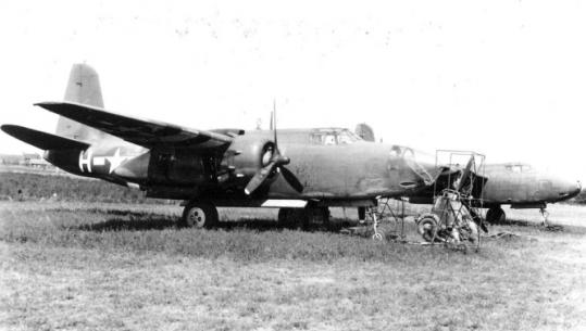 Sergeant Albert Forgue lost his life when his bomber, like the one shown in the foreground, crashed in 1944.