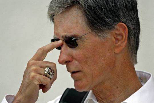 With another World Series ring, Red Sox owner John Henry, who arrived in camp yesterday, said, 'I couldn't be happier.'