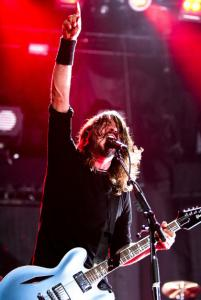 Foo Fighters frontman Dave Grohl delivered a ferocious two-hour set.