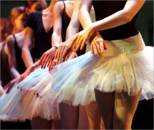 Boston Ballet ballerinas dance Swan Lake during a dress rehearsal at the Wang Center.