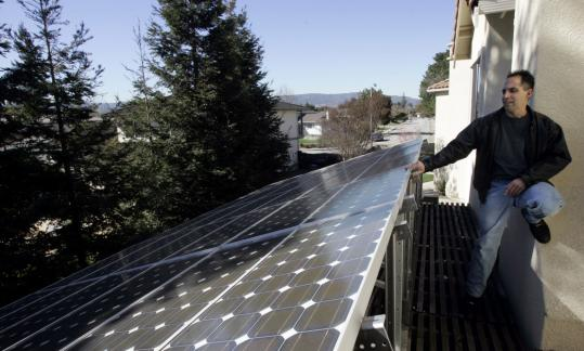 Mark Vargas (above) asked California prosecutors to press charges against his neighbors because their towering redwoods blocked sunlight to his backyard solar panels.