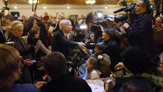 John McCain visited a dairy in Yellow Springs, Ohio, yesterday. A top campaign adviser said yesterday that 'McCain has never done favors for anyone, not lobbyists or any special interest.'
