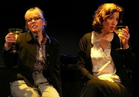 Kathy Manfre (left) and Lisa Tucker in Centastage's 'Plays on Tap' at the Boston Center for the Arts.