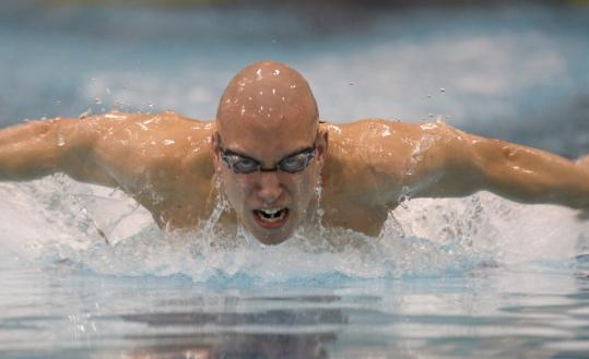 Nick D'Innocenzo's hair-raising night included a record in the 200 IM.