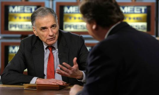 Consumer advocate Ralph Nader announced that he will run for president in an interview with Tim Russert yesterday.