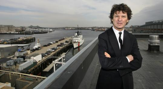Guy Martin at the Battery Wharf site where he will open his second Sensing restaurant. He opened the first in Paris.