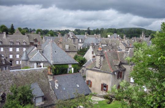 Salers is a typical French Renaissance village in the Auvergne.
