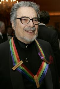 Pianist Leon Fleisher sported a peace symbol at the Kennedy Center Honors in December.