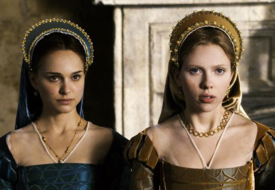 Natalie Portman (left) and Scarlett Johansson play sisters who are rivals for the love of King Henry VIII.