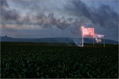Fireworks followed Senator John Kerry's Chippewa County Farm Rally at the Evergreen Stock Farm in Bloomer, WI in 2004.