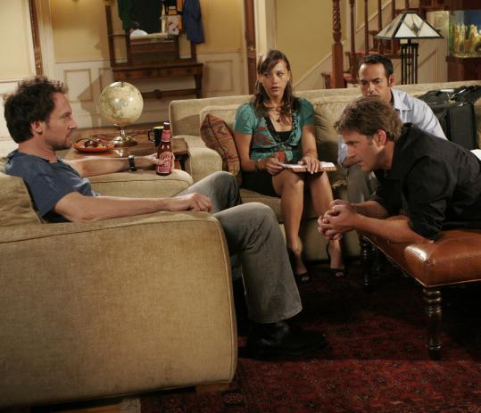 Clockwise from left: Johnny Sneed, Rashida Jones, Shaun Majumder, and Craig Bierko play a 'Seinfeld'-like group of friends in a Boston-set sitcom executive produced by the Farrelly brothers.
