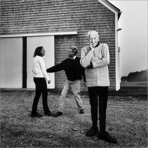 Artist Andrew Wyeth with his son Nicholas and granddaughter Victoria at home in Maine in 1998.