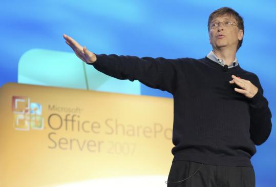 Microsoft chairman Bill Gates unveils Web-based software for smaller companies, which should be able to sign up by year-end.
