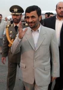 President Mahmoud Ahmadinejad of Iran returned to Tehran yesterday after a 36-hour visit in Iraq.