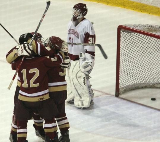 Newburyport players had plenty to celebrate after the winning goal in Sunday's tournament victory over Gloucester.
