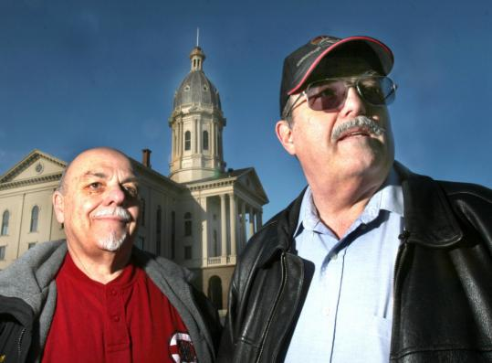 Len Anderson and Ed Beaulieu, both from the Paranormal Institute of New England, will be reviewing the film and audiotapes they obtained Monday night in Town Hall in Middleborough. The two were investigating eerie footsteps heard in the building.