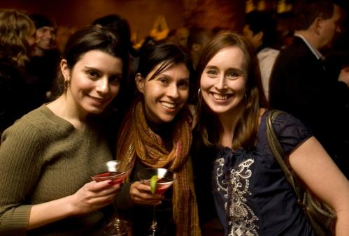 Shoe ins: From left, Theresa Rodrigues, Catherine Howe, and Emma March enjoyed the free wine. More info on Via Matta SUBMIT Your nightlife photos! TALK What scene should we visit next?