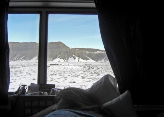 Aboard the Zephyr, the view of eastern Utah from a sleeper car feels wide and dreamlike.