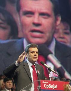 Prime Minister Vojislav Kostunica of Serbia attended a final preelection rally for his party in Belgrade in January