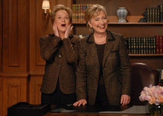 Hillary Clinton was on 'Saturday Night Live' this month with Amy Poehler, who impersonates her on the show.