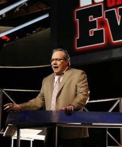Lewis Black serves as the judge, presiding over mock trials. The first show pits Oprah against the Catholic Church to find out which is more dangerous to society.