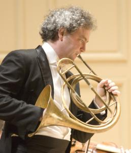BSO principal horn James Sommerville in concert Sunday with the Handel and Haydn Society.