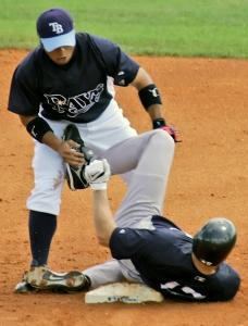 Shelley Duncan's spikes-high slide into Akinori Iwamura triggered a fracas between the Yankees and Rays that stemmed from their game last Saturday.