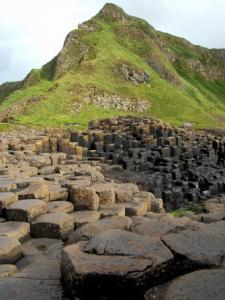 The basalt columns of the Giants Causeway on Northern Ireland's Antrim coastline.