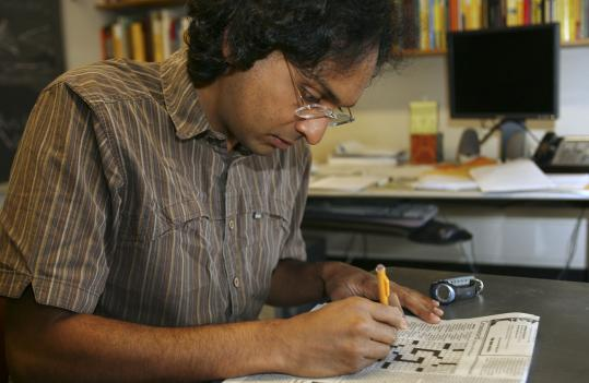 Kiran Kedlaya, an associate professor at MIT, is one of the world's top crossword puzzle solvers.