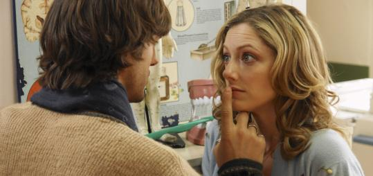 Judy Greer (with Ashton Kutcher) brings innocence and kookiness to the role of Becky.