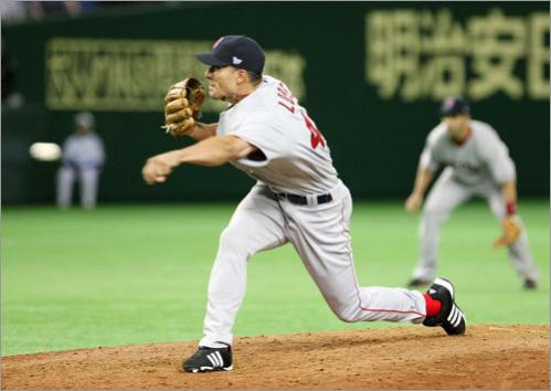 Sox lefty Javier Lopez was one of five relief pitchers used by the Red Sox during the opener.