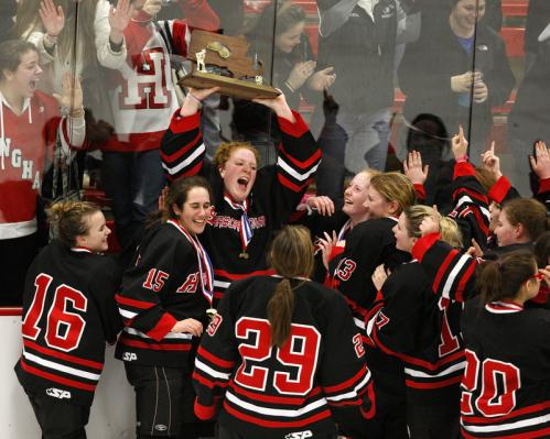 Hingham girls don't waste time The Hingham girls' hockey team wasn't a threat to win the state title in 2003. That's because the program didn't exist then. But what started in 2004, finished in 2008 as Division 2 state champs. The rise of the Harbormen is a microcosm of what's happening in girls' hockey. The rapid growth of the sport means today's struggling start-up can be tomorrow's state champion.