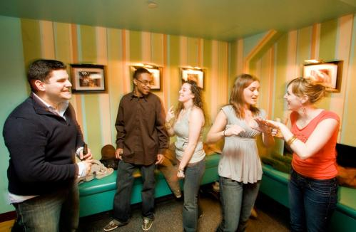 Friends gathered for Danielle Brandt's birthday (second from right) mingled away from their bowling game. See more Hot Shots More info on Kings SUBMIT Your nightlife photos! TALK What scene should we visit next?