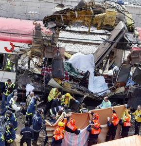 Emergency personnel responded to the bombing of a Madrid train in 2004 that killed 191 people. Some specialists say Islamic militant websites can be used to recruit extremists.