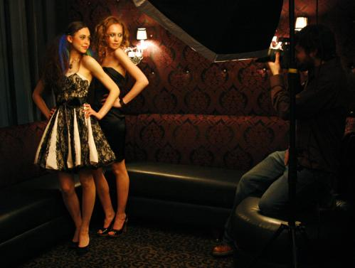 Pretty as a picture: Photographer Brian Silverstein snapped some shots of the models after the show.