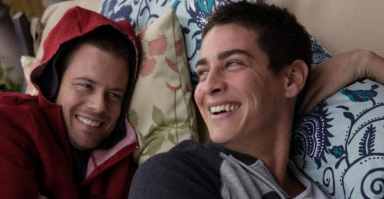 Brad Rowe (left) is Shaun and Trevor Wright is Zach in Jonah Markowitz's drama of two young men who have known each other since childhood and discover they are attracted to each other.