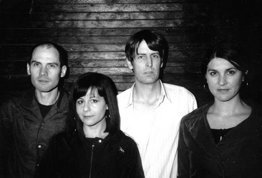 From left: Mike Clark, Janet Weiss, Stephen Malkmus, and Joanna Bolme of the Jicks play a sold-out Paradise Rock Club Tuesday.