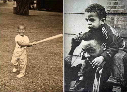 Difficult early years Obama bounced between Hawaii and Indonesia as a boy, eventually settling in Honolulu with his grandparents. Patrick was raised by his mother and grandparents on Chicago's South Side, once witnessing his uncle shooting up heroin in the living room.