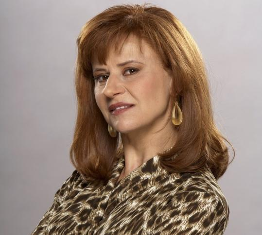 Tracey Ullman as Arianna Huffington, one of many celebrities she skewers on her new Showtime series.