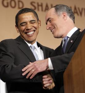 Barack Obama shared a laugh yesterday with Senator Bob Casey at the Soldiers & Sailors Military Museum and Memorial in Pittsburgh, where Casey endorsed Obama for president.