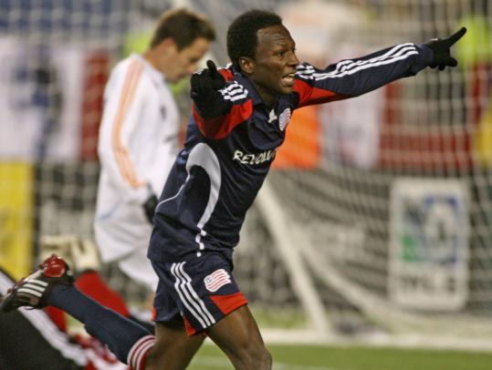 Sainey Nyassi didn't slow down after he used his speed to get into position to score his first MLS goal.